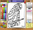 Раскраска Веселый попугай