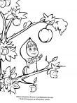 Раскраска Маша тянется за яблоком